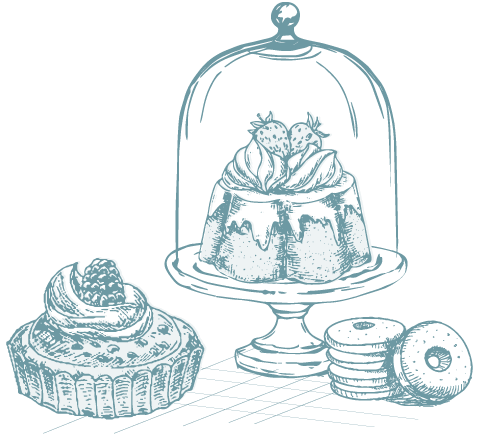 drawing of special bakery goods