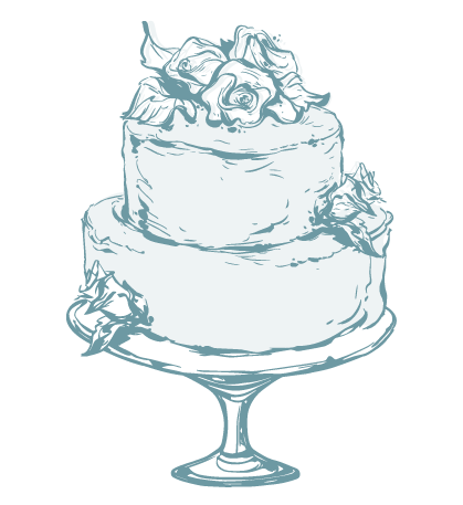 drawing of specialty cake